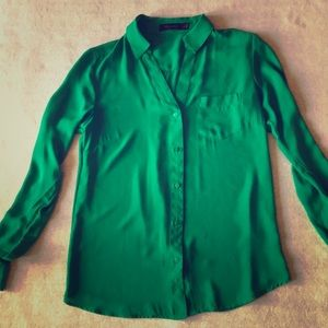 The Limited green button down shirt